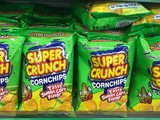 スーパークランチ(Super Crunch)のスイートコーン味