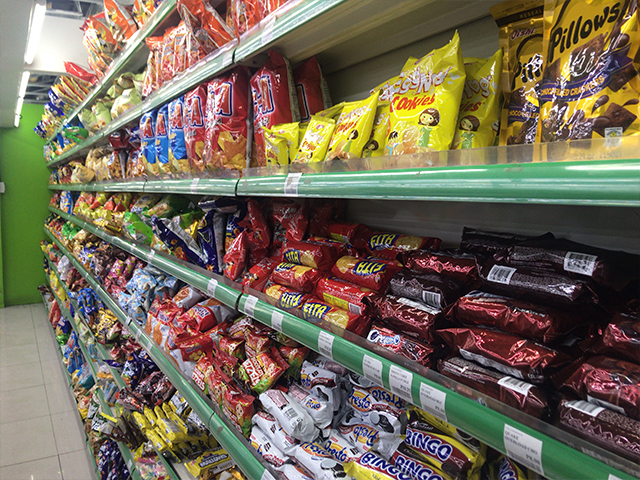 お店のお菓子コーナー